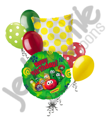 Veggietales Happy Birthday Balloon Bouquet