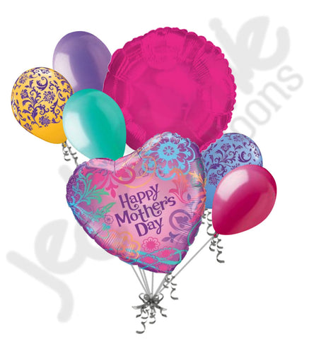 Bright Filligree Happy Mother's Day Balloon Bouquet