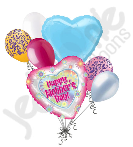 Bright Flowers Happy Mother's Day Balloon Bouquet