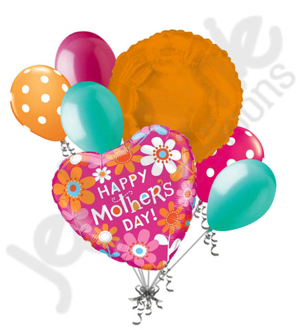 Contemporary Daisies Happy Mother's Day Balloon Bouquet