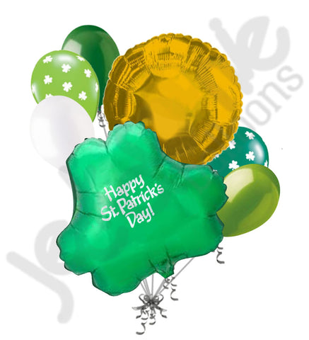 Green Clover Happy St. Patrick's Day Balloon Bouquet