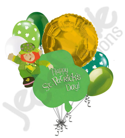 Leprechaun & Clover Happy St. Patrick's Day Balloon Bouquet