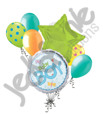 Baby Boy Dragonfly Balloon Bouquet