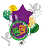 Comedy Tragedy Mardi Gras Balloon Bouquet