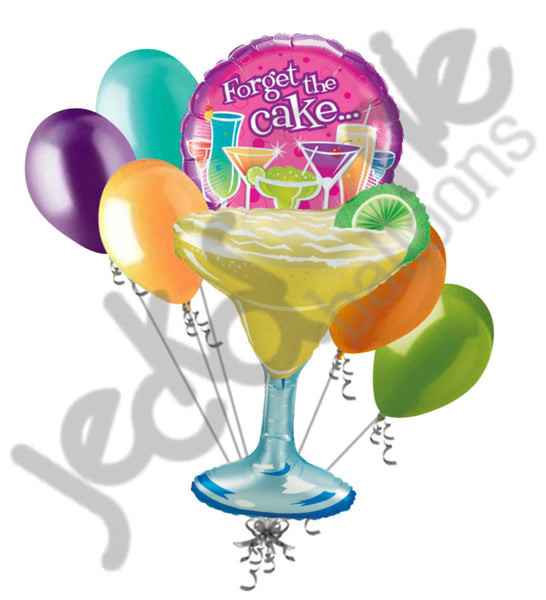 Margarita Forget The Cake Cocktails Happy Birthday Balloon Bouquet Jeckaroonie Balloons
