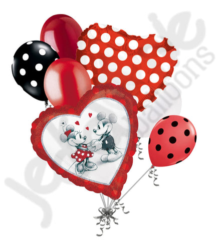Disney Mickey & Minnie Mouse Love Balloon Bouquet