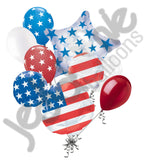 Disney Mickey Mouse Patriotic American Flag Balloon Bouquet