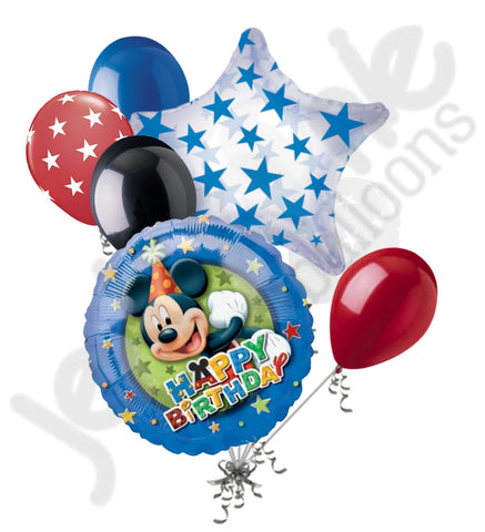 Disney Mickey Mouse Stars Happy Birthday Balloon Bouquet
