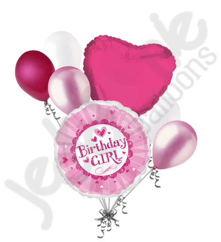 Birthday Girl Pink Ballet Tutu Balloon Bouquet