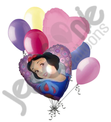Disney Princess Snow White Heart Balloon Bouquet