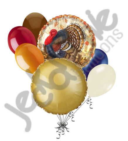 Sophisticated Turkey Happy Thanksgiving Balloon Bouquet