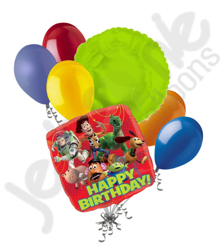 Disney Toy Story Gang Happy Birthday Balloon Bouquet