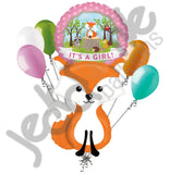 Woodland Fox It's a Baby Girl Animal Balloon Bouquet