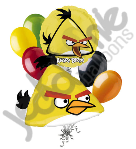 Angry Birds Yellow Chuck Shape Balloon Bouquet