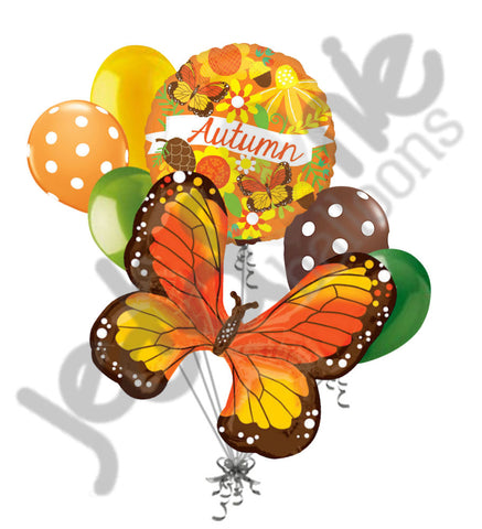 Autumn Monarch Butterfly Balloon Bouquet