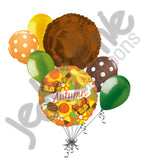 Autumn Harvest Butterflies & Flowers Balloon Bouquet