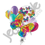 Beautiful Colorful Monarch Butterfly Balloon Bouquet