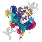 Beautiful Colorful Butterfly Balloon Bouquet
