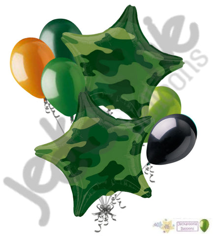 Camouflage Stars Balloon Bouquet
