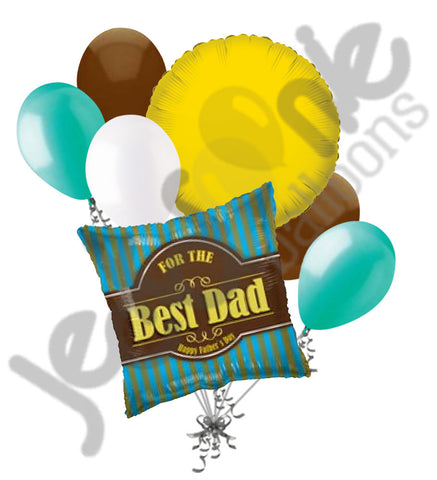 For the Best Dad Happy Father's Day Balloon Bouquet