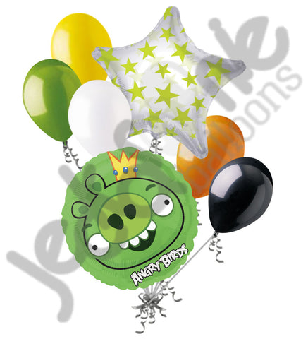 Angry Birds Green King Pig Balloon Bouquet