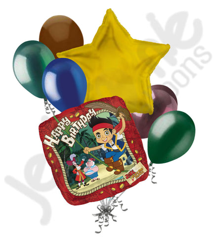 Disney Jake & the Neverland Pirates Happy Birthday Balloon Bouquet