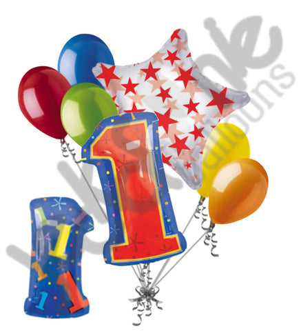 1st Birthday Themed Number Balloon Bouquet