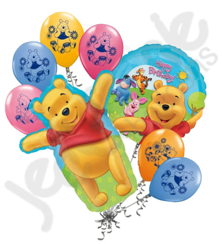 Adorable Winnie the Pooh Balloon Bouquet