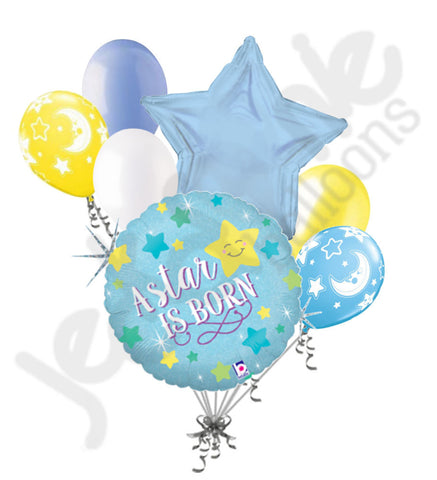 A Star is Born Baby Boy Balloon Bouquet