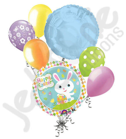 Adorable Bunny & Easter Basket Balloon Bouquet