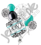 Damask Love Always & Forever Balloon Bouquet