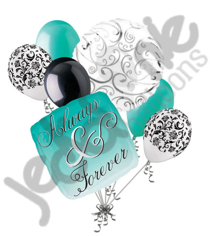 Always & Forever Aqua & Teal Balloon Bouquet