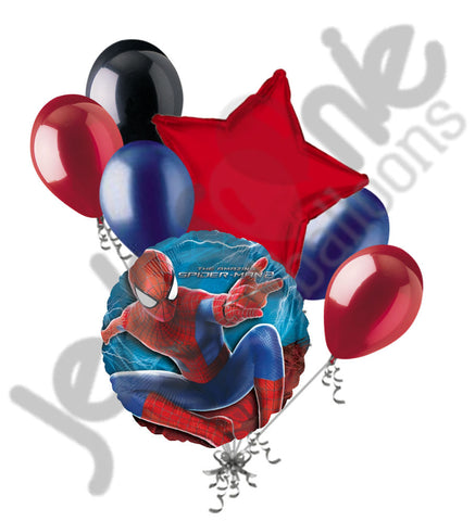 Amazing Spiderman Balloon Bouquet