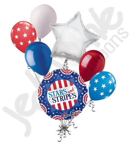 American Pride Stars & Stripes Balloon Bouquet
