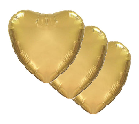 Antique Gold Heart Decorator Balloons