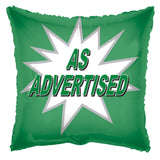 Green As Advertised Starburst Square Promotional Balloon