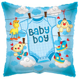 Baby Boy Blue Onesie Balloon Bouquet