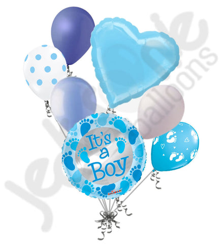 Baby Boy Feet Blue Balloon Bouquet