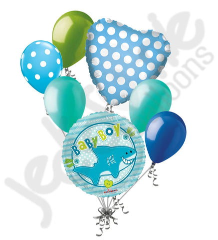 Baby Boy Shark Balloon Bouquet