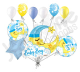 Baby Boy Sleeping Moon Large Balloon Bouquet