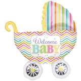 Bright Buggy Baby Carriage Balloon Bouquet