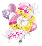 Baby Girl Sleeping Moon Jumbo Balloon Bouquet
