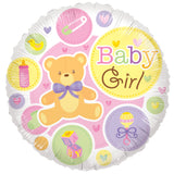 Baby Girl Bear & Things Balloon Bouquet