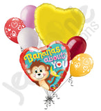 Bananas About You Monkey Valentine's Day Balloon Bouquet