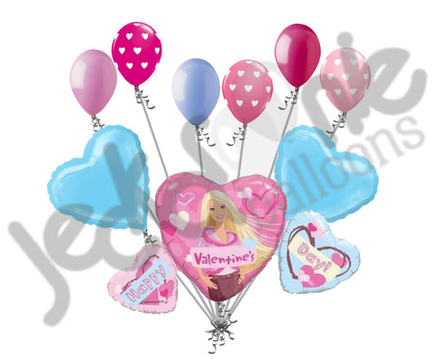 Barbie Hearts Valentines Day Balloon Bouquet