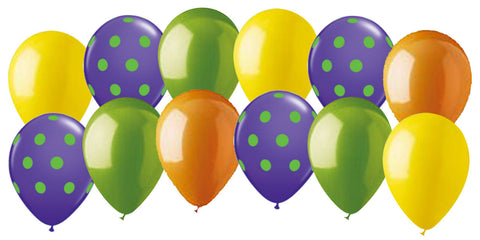 Barney Inspired Polka Dot Latex Balloons