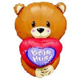 Bear Hug for You Shape Balloon Bouquet