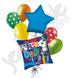 Best Dad Ever Tools Happy Father's Day Balloon Bouquet