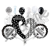 Damask & Dots Best Wishes Balloon Bouquet