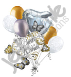 Best Wishes Heart Cluster Balloon Bouquet